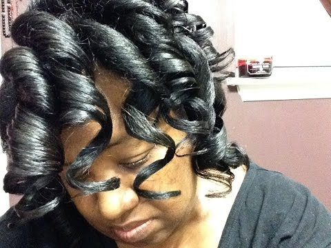 DRY ROLLERSET WITH FOAM - NO WATER SPRITZ ~ Perm Relaxer Texlaxed