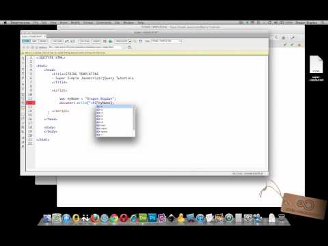 STRING VARIABLES to HTML ELEMENTS - Super Simple Javascript/jQuery Tutorials