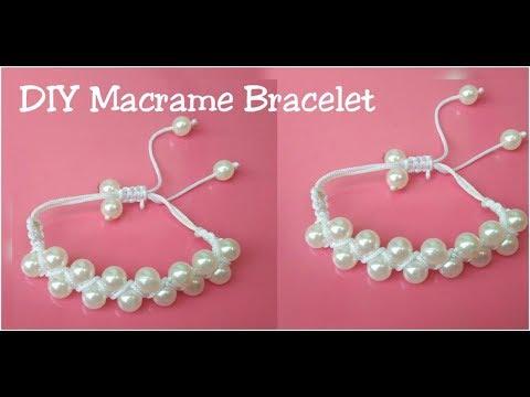 Diy Macrame Friendship Bracelet /how to make macrame bracelet making