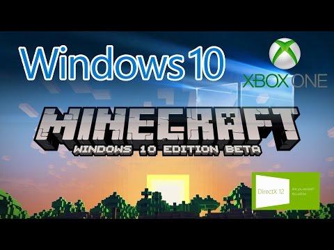 Windows 10 遊戲效能, DirectX 12, Minecraft Windows 10 Edition Beta