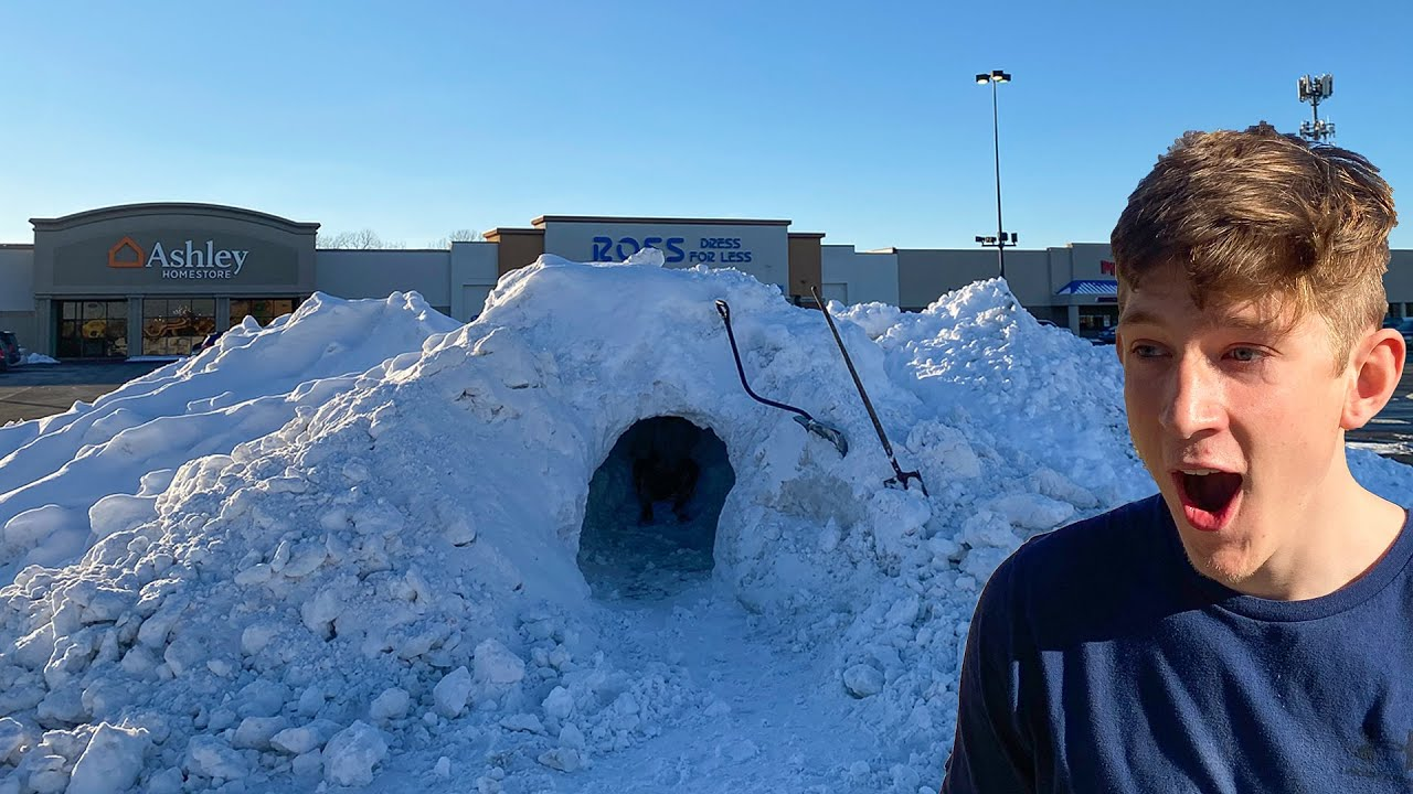 I Built A Giant Snow Fort In The parking Lot