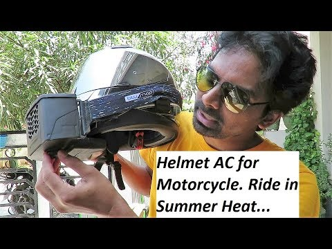 Helmet AC for Motorcycle. Ride in Summer Heat.