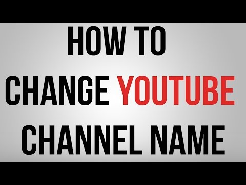 How to change Youtube chanel name without changing gmail name