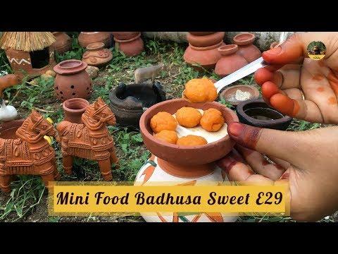 Miniature Food: Badusha Sweet | E#29 | Balushahi Recipe | MCS