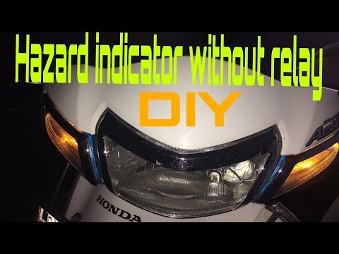 DIY- How to make hazard indicator for all two wheelers without installing any relay