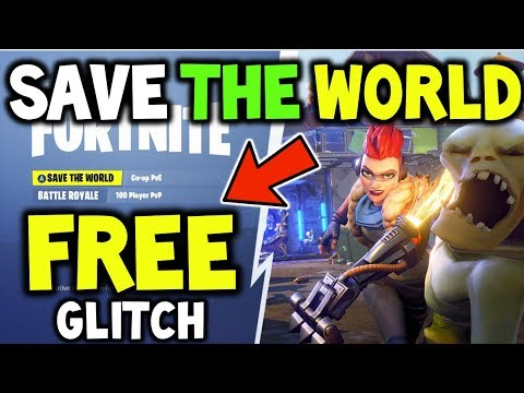 HOW TO GET SAVE The WORLD FOR *FREE* GLITCH FORTNITE - 100% WORKING MAY, Save The World Free V-BUCKS