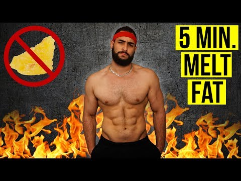Do This For 5 Minutes to Burn Body Fat FAST! (Body Weight ONLY Fat Destroyer Home Workout)
