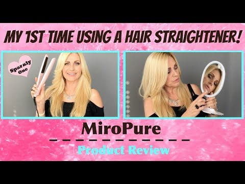 1st Time Using a Flat Iron - MiroPure Review