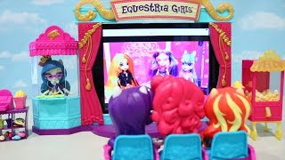 Equestria Girls Movie Theater ! Toys And Dolls Fun Family Playtime With My Little Pony | Swtad