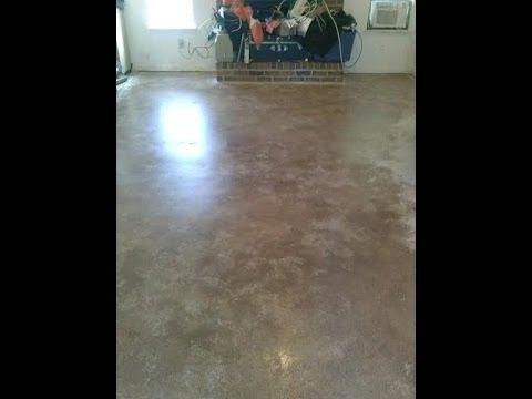 Den floor gets a makeover. Painted concrete floor!!