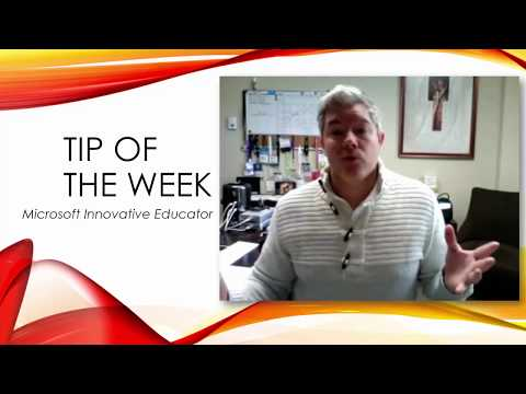 Tip of the Week - Microsoft Innovative Educator in MPS Pathway