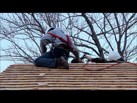 Installing Copper Ridge Cap on Sawmill Cedar Shake Roof