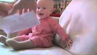 baby laughing hysterically