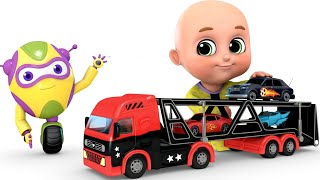 Car Toys Loader Truck Videos   Learn Colors   Kids Toys   Surprise Eggs Toy Unboxing By Jugnu Kids