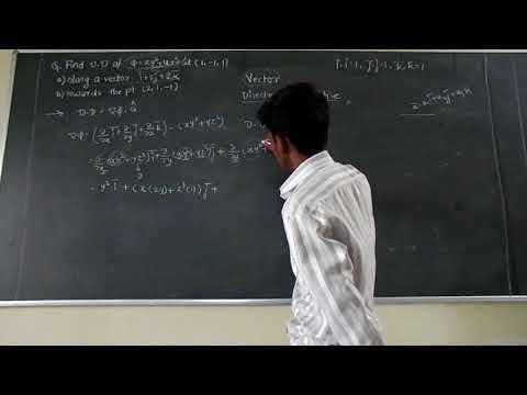 M3 | Vector Directional Derivative | Engineering Mathematics 3 | Savitribai Phule Pune University