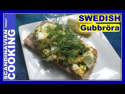 Swedish Egg and Anchovy Salad on Crispbread Recipe 🍋