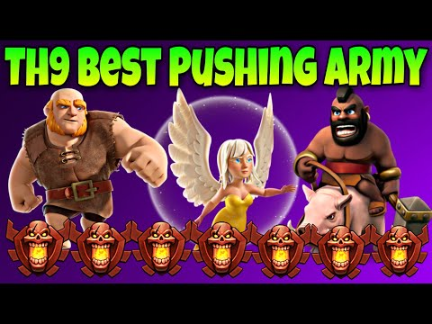 New Best Th9 Trophy Pushing Army | HGH Attack Strategy | Clash of Clans