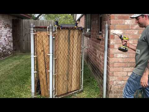 Chain link fence upgrade
