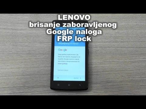 Lenovo A2010-a brisanje zaboravljenog Google naloga  FRP lock