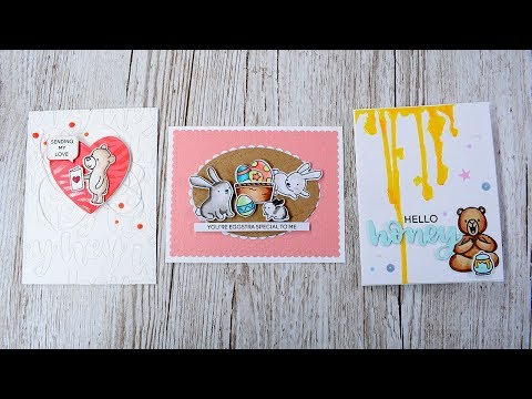 CCWM - Three cards using NEW Heffy Doodle release