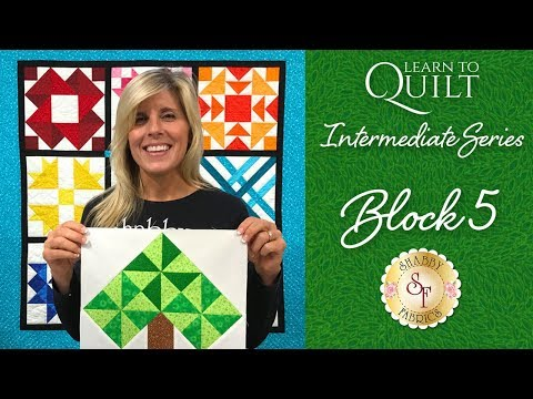 Learn to Quilt Intermediate Block Five | a Shabby Fabrics Quilting Tutorial