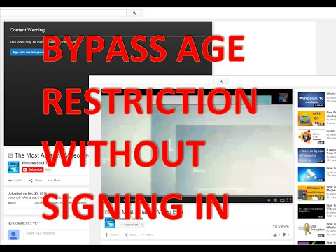 Bypass YouTube Age Restriction without signing in [4K]