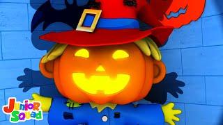 Monsters in the Dark | Halloween Songs for Kids | Scary Nursery Rhymes \u0026 Kids Songs - Junior Squad