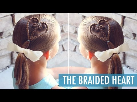 The Braided Heart - Perfect Valentine's Day Hairstyle - Little Girl Hairstyle