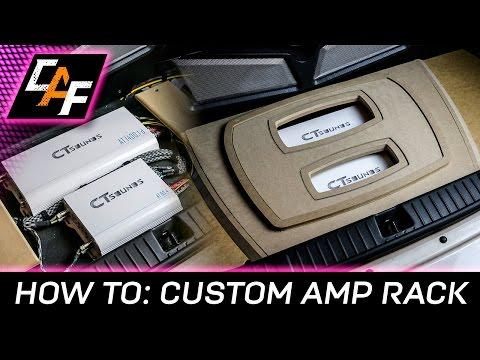 Build BEAUTIFUL Custom Amplifier Rack  - Beauty Panel Build  - CarAudioFabrication