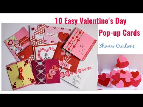 Valentine's Day Pop up Cards in 10 Different ways/ 10 Easy Love Pop up Cards