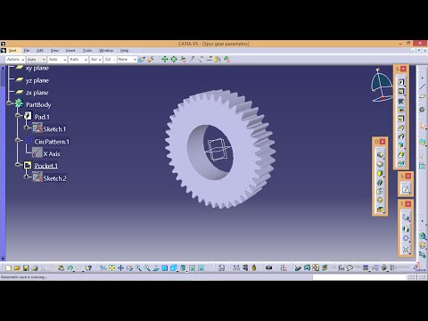 Catia Tutorials How to make Spur gear  profile in catia using parameters and formulae
