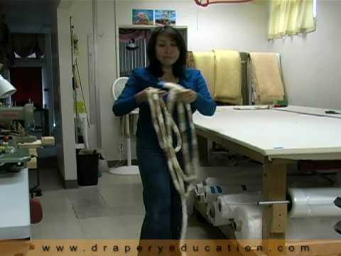 Part 3, How to make a jumbo welt braided tieback