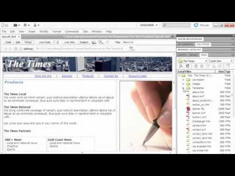 Course Promo: Using Templates, CSS & Tables in Dreamweaver CS5