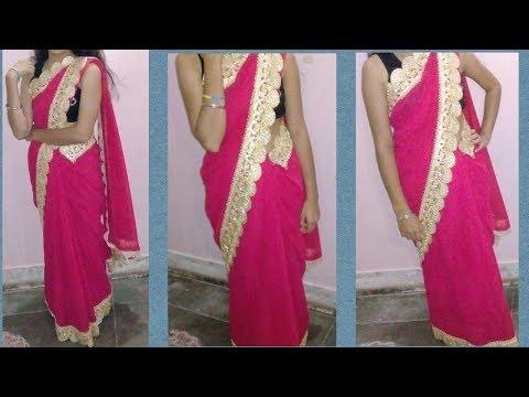 Belt wali Saree....Saree with plates & stitching.....ready made Saree....