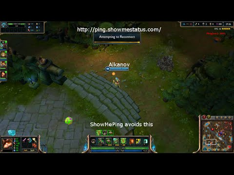 ShowMePing v0.6 - check your lag or ping before playing League of Legends