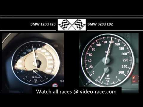 BMW 120d F20 VS. BMW 320d E92 - Acceleration 0-100km/h