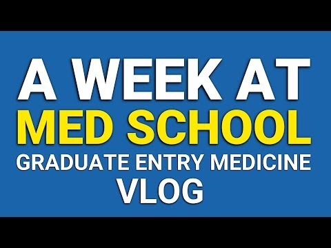 A Week Of Med School VLOG (Graduate Entry Medicine) | PostGradMedic