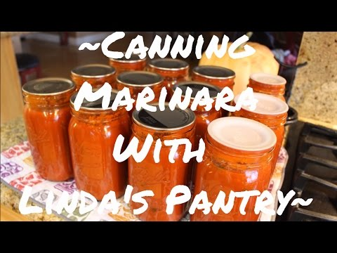 ~Canning Delicious Marinara With Linda's Pantry~