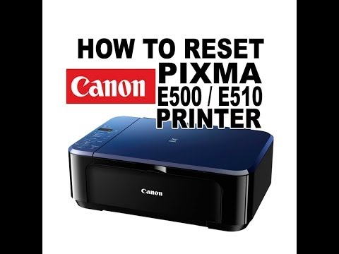 How to Fix Error P07 Printer Canon MP287 Reset Absorber - Canon E510