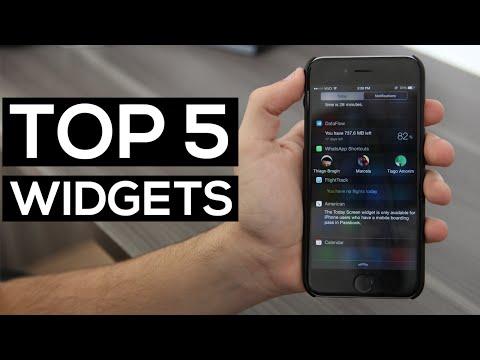 TOP 5 WIDGETS para iPhone!