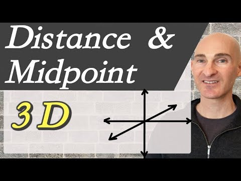Distance and Midpoint Formula in 3 Dimensions