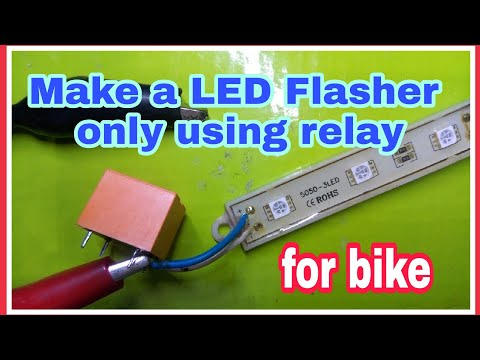 How to make LED flasher light using only relay....