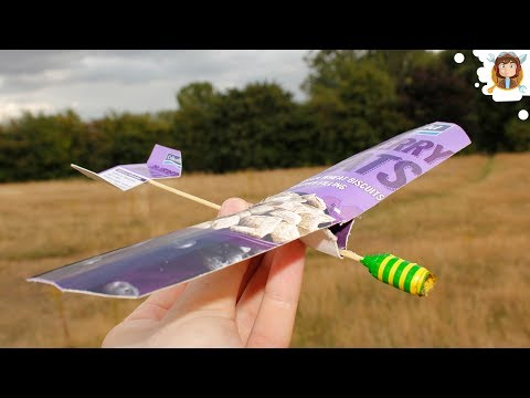 How to make a paper airplane (Cardboard Glider - Test Flight)