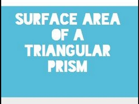 Finding the surface area of a triangular prism-Geometry Help