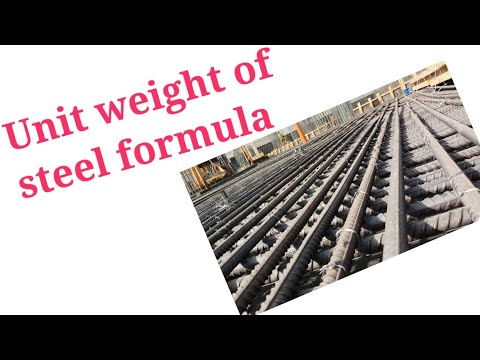 Unit weight of steel formula