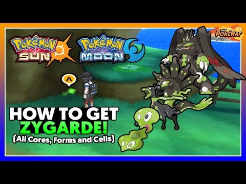 Pokémon Sun and Moon | How To Get Zygarde! ALL Cores, Forms and Cells! (All Zygarde Cells Locations)