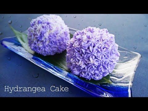 【ゆめかわ】紫陽花カップケーキ ~ Hydrangea Cake【料理レシピはParty Kitchen🎉】