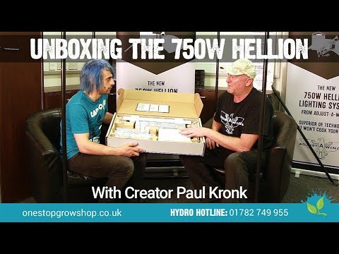 Unboxing the 750w Hellion Grow Light With Creator Paul Kronk