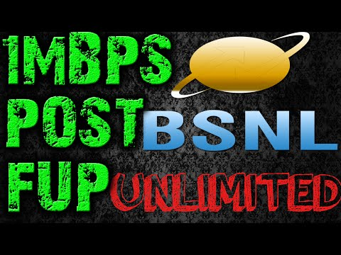 REVISED BSNL 1MBPS UNLIMITED POST FUP SPEED TEST REVIEW FROM AUGUST 1st 2016!!!!