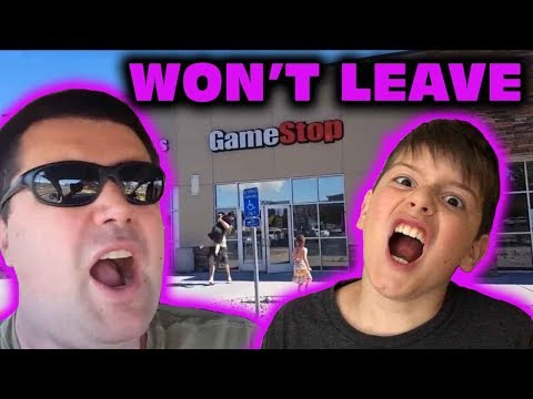 Kid Carried Out And Banned From Gamestop Skit